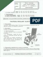 2017 SP BAC (Fauteuil Roulant Electrique)