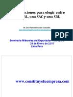 Consideraciones Para Elegir Entre Una EIRL SAC SRL 2017 Keyword Principal.pdf