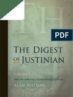 Digest of Justinian, Volume 1 (D.1-15)