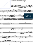 Devil Went Down to Georgia Violin Part Sheet Music