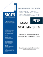 Manual SIGES_Control de Asistencia e Inscripcion de Estudiante_San Salvador
