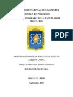 Aseguramiento de La Calidad Educativa en América Latina