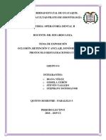 Operatoria 1p Ionómero de Vidrio- Protocolo Clase IV, V Grupo #4