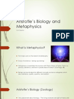 Aristotle's Biology and Metaphysics