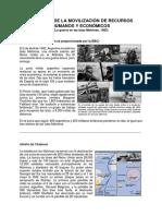 Magnitud de la movilización de Recursos Humanos y económicos - Guerra Malvinas