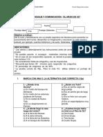 Evaluación de Lenguaje y Comunicaciónmagodeoz