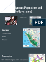 peruvian indigenous peoples and the peruvian government