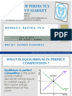 Analysis of Perfectly Competitive Market by Meinrad C. Bautista