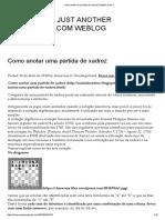 Anotar Partida de Xadrez _ Rafael Ferreira