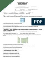 Midterm Exam Chemistry