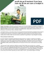 10.000 de Euro Profit de Pe 5 Hectare! Cum Face Agricultură Un Român de 26 de Ani Care a Învăţat În SUA.
