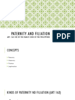Paternity and Filiation