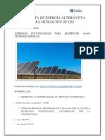 Propuesta de Energía Alternativa Para Mitigación de Gei