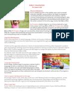 early childhood fact sheet 2