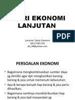 Teori Ekonomi Lanjutan