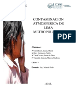 Contaminación Atmosferica de Lima Metropolitana