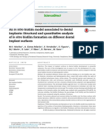 An in Vitro Biofilm Model Associated to Dental Implants- Structural and Quantitative Analysis of in Vitro Biofilm Formation on Different Dental Implant Surfaces