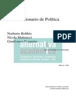 Bobbio- Ciencia Política en Diccionario de Ciencia Política