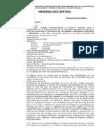 IEI LOS POLLITOS - SOCABAYA MEMORIA DESCRIPTIVA DEL PROYECTO.doc