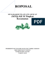 Proposal MTq Kecamatan