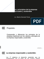 Semana 6. Los Valores y Principios de La Empresa Responsable y Sostenible (1)