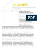 Fundación de La Paz (20 de Octubre de 1548) – LHistoria