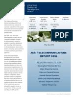 ACSI Telecommunications Report 2018