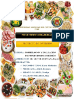 Formulaciony Proyectos de Inversión Gastronomia Internacional