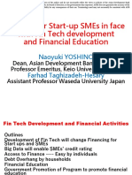 Finance for Start-up SMEs in face with Fin Tech development and Financial Education