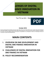 Challenges of Digital SME Finance Innovation in Viet Nam
