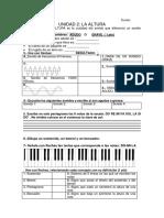 1eso Examen Unidad 2 La Altura
