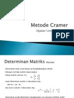 9. ALM - TM9 - Metode Cramer