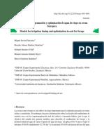 Modelos Para Programacion y Optimizacion de Agua d