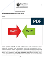 Differences Between GATT and WTO