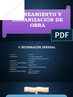 PLANEAMIENTO Y ORGANIZACIÓN DE OBRA