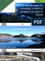 La Ley Del Agua en Colombia