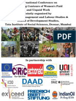 Changing Contours of Paid and Unpaid Work of Women- Book of Abstracts, TISS, Mumbai