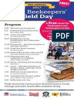 Tocal 2017 Beekeeper Field Day Flyer