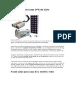 Panel Solar Para Casa DPS de 500w