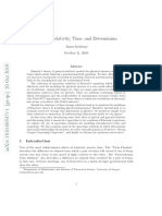 General Relativity, Time, And Determinism
