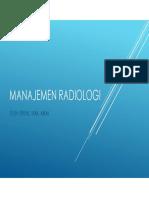 Manajemen Radiologi - Pert 4.1