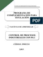 Control de Procesos Industriales Con Plc