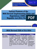 Salient Features IRR RA 9184