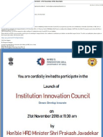 Institution Innovation Council at PIMR by MHRD Innovation Cell, Govt. of India