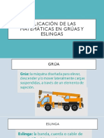 Aplicación de Las Matemáticas en Grúas y Eslingas