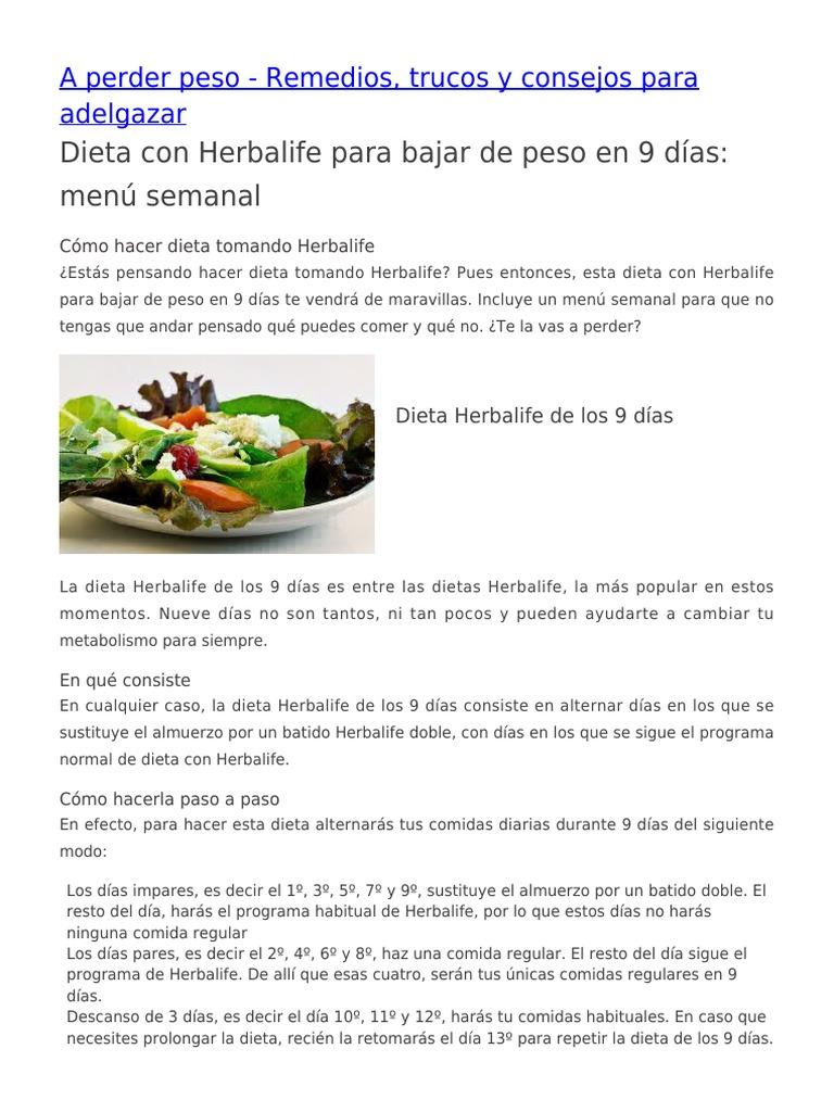dieta herbalife)