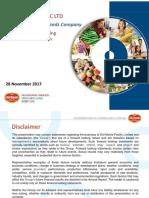 Del Monte Pacific Preference Share (2nd Tranche) Roadshow Presentation 28 Nov 2017