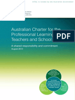 australian charter for the professional learning of teachers and school leaders