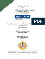 Harsh- CRITICAL REVIEW OF WORKING CAPITAL MANAGEMENT- Guide- PANKAJ MISHRA-7007291980.pdf