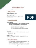 Curriculum Vitae hasta 2006